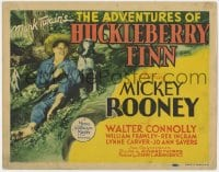 4a005 ADVENTURES OF HUCKLEBERRY FINN TC 1939 Mickey Rooney, from Mark Twain's famous novel!
