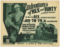 4a006 ADVENTURES OF REX & RINTY chapter 8 TC 1935 horse & German Shepherd serial, A Dog's Devotion!