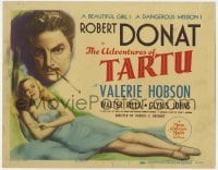 4a007 ADVENTURES OF TARTU TC 1943 Robert Donat on a dangerous mission, beautiful Valerie Hobson!