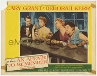 4a205 AFFAIR TO REMEMBER LC #4 1957 Cary Grant & Deborah Kerr drinking at bar with eavesdroppers!