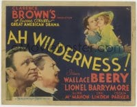 4a008 AH WILDERNESS TC 1935 Wallace Beery, Lionel Barrymore, Eugene O'Neill's American drama!