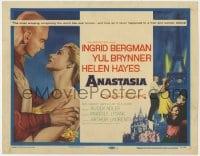 4a010 ANASTASIA TC 1956 great romantic close up art of Ingrid Bergman & Yul Brynner!