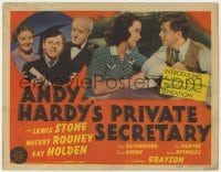 4a002 ANDY HARDY'S PRIVATE SECRETARY TC 1941 Mickey Rooney, young Kathryn Grayson in her 1st role!