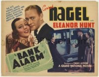 4a011 BANK ALARM TC 1937 Conrad Nagel, ace federal agents in another thrilling adventure, rare!