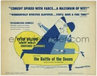 4a013 BATTLE OF THE SEXES TC 1960 Peter Sellers, Charles Crichton English comedy, cartoon art!