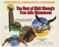 4a014 BEST OF WALT DISNEY'S TRUE-LIFE ADVENTURES TC 1975 powerful, primitive, cool animal art!