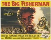 4a015 BIG FISHERMAN TC 1959 great Joseph Smith artwork of Howard Keel, Susan Kohner & John Saxon!
