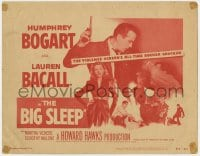 4a016 BIG SLEEP TC R1956 Humphrey Bogart & sexy Lauren Bacall, Howard Hawks film noir classic!