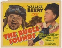 4a021 BUGLE SOUNDS TC 1942 great images of military man Wallace Beery & Marjorie Main!