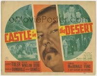 4a023 CASTLE IN THE DESERT TC 1942 great close up of Sidney Toler as Asian detective Charlie Chan!