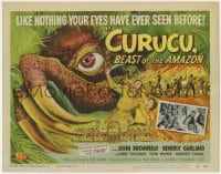 4a026 CURUCU, BEAST OF THE AMAZON TC 1956 monster art by Reynold Brown, like you've never seen!