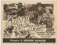 4a029 DON DAREDEVIL RIDES AGAIN chapter 3 TC 1951 Republic western serial, Hidden Danger!