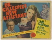 4a030 DR. GILLESPIE'S NEW ASSISTANT TC 1942 different image of Lionel Barrymore & sexy Susan Peters!