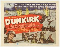 4a033 DUNKIRK TC 1958 John Mills, Ealing, Richard Attenborough, cool World War II battle scenes!
