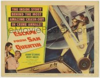 4a034 ESCAPE FROM SAN QUENTIN TC 1957 Johnny Desmond breaks out of California prison by plane!