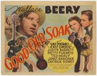 4a041 GOOD OLD SOAK TC 1937 Hirschfeld art of Wallace Beery + Una Merkel, Betty Furness & cast!