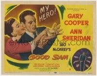 4a042 GOOD SAM TC 1948 great art of Gary Cooper & sexy Ann Sheridan spilling coffee!