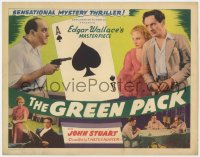 4a046 GREEN PACK TC 1940 Edgar Wallace's masterpiece, cool ace of spades gambling image!