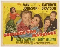 4a047 GROUNDS FOR MARRIAGE TC 1951 Van Johnson & pretty opera singer Kathryn Grayson!