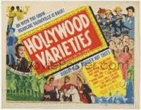 4a049 HOLLYWOOD VARIETIES TC 1950 Robert Alda, Hoosier Hot Shots & top ranking vaudeville acts!