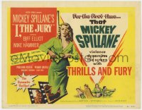 4a050 I, THE JURY 2D TC 1953 Mickey Spillane, Biff Elliot as Mike Hammer with sexy Peggie Castle
