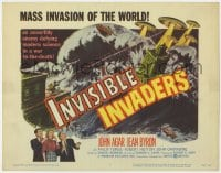 4a052 INVISIBLE INVADERS TC 1959 an unearthly enemy defying modern science in a war to the death!