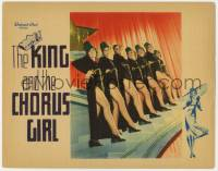 4a057 KING & THE CHORUS GIRL LC 1937 seven sexy ladies showing their legs through slit skirt!