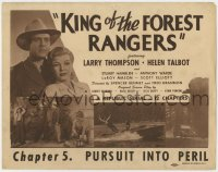 4a059 KING OF THE FOREST RANGERS chapter 5 TC 1946 Larry Thompson, Helen Talbot, Pursuit Into Peril!