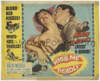 4a060 KISS ME DEADLY TC 1955 Mickey Spillane, Robert Aldrich, close up of Ralph Meeker & sexy girl!