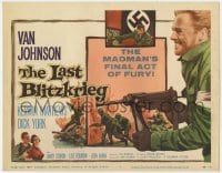 4a062 LAST BLITZKRIEG TC 1959 World War II soldier Van Johnson fights Nazi's final act of fury!