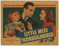 4a063 LITTLE MISS THOROUGHBRED TC 1938 Ann Sheridan, John Litel, Janet Chapman, horse racing!