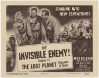 4a064 LOST PLANET chapter 13 TC 1953 Columbia super-serial, Commander of Space, The Invisible Enemy!