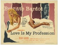 4a065 LOVE IS MY PROFESSION TC 1959 Georges Simenon's En Cas de Malheur, sexy Brigitte Bardot!