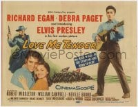 4a066 LOVE ME TENDER TC 1956 1st Elvis Presley, great images with Debra Paget & with guitar!