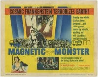 4a068 MAGNETIC MONSTER TC 1953 cosmic Frankenstein came alive & will swallow the Earth!