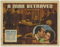 4a070 MAN BETRAYED TC 1941 attorney John Wayne loves murder suspect's daughter pretty Frances Dee!