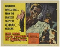 4a071 MAN WHO TURNED TO STONE TC 1957 Victor Jory practices unholy medicine, Friedrich von Ledebur!