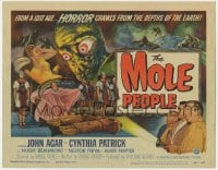 4a075 MOLE PEOPLE TC 1956 from a lost age... horror crawls from the depths of the Earth!