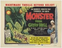 4a077 MONSTER FROM GREEN HELL TC 1957 art of the mammoth monster that terrorized the Earth!