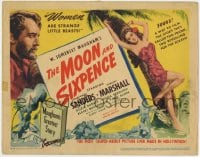 4a079 MOON & SIXPENCE TC 1942 art of George Sanders & sexy tropical island girl by palm tree!