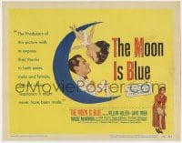 4a080 MOON IS BLUE TC 1953 William Holden, virgin Maggie McNamara, directed by Otto Preminger!