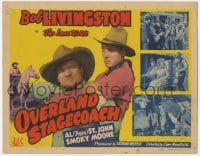 4a108 OVERLAND STAGECOACH TC 1942 cowboy Bob Livingston as the Lone Rider, Fuzzy St. John