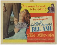 4a130 PRIVATE AFFAIRS OF BEL AMI TC 1947 pretty Angela Lansbury is too weak to be wicked!