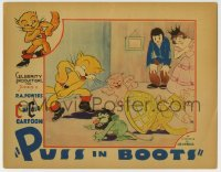 4a738 PUSS IN BOOTS LC 1934 incredible Ub Iwerks art, ComiColor cartoon, he defeats the evil ogre!