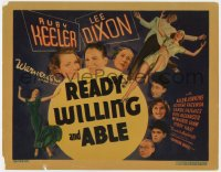 4a134 READY, WILLING & ABLE TC 1937 Ruby Keeler & Lee Dixon dancing, Allen Jenkins, Louise Fazenda!