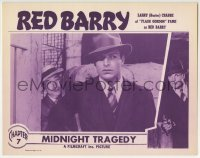 4a757 RED BARRY chapter 7 LC R1948 c/u of Buster Crabbe in the title role, Midnight Tragedy!