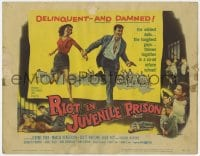 4a136 RIOT IN JUVENILE PRISON TC 1959 co-ed reform school for delinquents, great artwork!