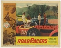 4a773 ROADRACERS LC #4 1959 great race car scene, American Grand Prix art in the border!