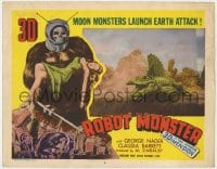 4a776 ROBOT MONSTER 3D LC #6 1953 3-D, worst movie ever, alligator with fin strapped to back!
