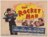 4a138 ROCKET MAN TC 1954 great image of Foghorn Winslow with ray gun, written by Lenny Bruce!